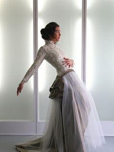 KASKA HASS Couture, Brautkleid Serenissima 2014, A-Linie-Brautkleid aus Spitze. Wundervoll!