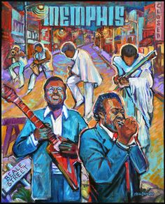 poster 18 by 24 Cristen Barnard Rhythm And Blues, Jazz Blues, Blues Music, Music Notes Art, William Christopher, Mississippi Delta, Robert Johnson, Blue Painting, Love Blue