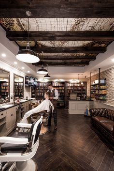 @danielmalik | Design Portfolio Interior Design Of Benicky & Sons traditional Barber shop in Sydney, Australia