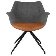 Zuiver Eetkamerstoel Doulton vintage grijs bruin 67x61x80cm €250