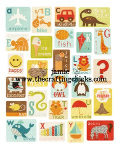 abc art poster - adorable. she bought the flashcards from Sweet Shoppe Designs