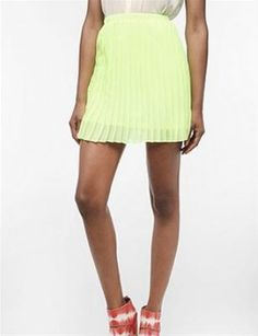 We love this prim skirt in hot neon. So modern & classy.     Photo: Courtesy of urbanoutfitters.com