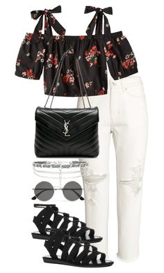 """""""Untitled #4192"""" by theeuropeancloset on Polyvore featuring H&M, Yves Saint Laurent and New Look"""