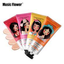 Music Flower Brand BB&CC Cream Korean Makeup Face Base Liquid Foundation Make Up Concealer Moisturizing Whitening Cosmetics 50ml(China (Mainland))