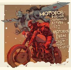"""House Of The Forgotten Machines"": The Superb Soviet Dieselpunk Concept Art By Andrey Tkachenko – Design You TrustDesign You Trust Syd Mead, Wave Illustration, Propaganda Art, Online Comics, Automotive Art, Retro Futurism, Dieselpunk, Comic Art, Illustrators"