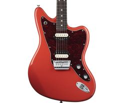 """Fender Vintage Modified Jaguar HH, Rosewood Fingerboard, Fiesta Red    With its offset waist, contoured body and 24"""" scale """"fast action"""" neck the new Vintage Modified Jaguar® HH gives a nod to its iconic forbearer but has other things going for it that make it truly 'modified'. The unique top-loading hard tail bridge features string saddles which are adjustable for intonation and designed to have a 9.5"""" radius when sitting flat on the bridge plate  www.dannyd.com"""