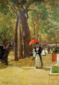 "Frederick Childe Hassam ~ ""Fifth avenue at Washington square"""
