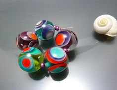 Gflassbeads à la main  OpArt  perles OOAK par melaniemoertel