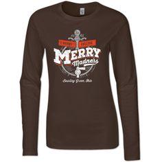 Bowling Green Merry Madness Ladies Fitted Long Sleeve – BG Memories | BGSU T-Shirts