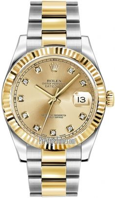 Rolex Oyster Perpetual Datejust II 116333 Champagne Diamond