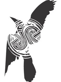 raven... me wants this on my arm!  Ravens symbolize: tomorrow.