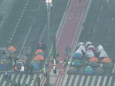 Manifestantes bloqueiam Paulista há 36 horas (Foto: Reprodução TV Globo)