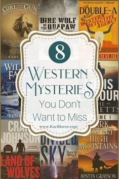If you're a fan of Western Mystery Books, this list is for you! From Darke County, Ohio to Ridgway, Colorado – there's plenty of adventure and mystery to go around. Check out this list and see which ones you'll be adding to your #TBR pile! #western #fiction #historical #novel #book #series #wildwest #frontier #oldwest #cowgirl #cowboy #mystery #PhilTruman #SteveHockensmith #KenPratt #LouisLamour #CraigJohnson #JeffCarson #AustinGrayson