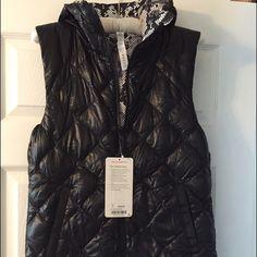Lululemon Reversible women's Fluffiest Vest NWT size 8. Runs a bit snug. See pic for details. lululemon athletica Jackets & Coats Vests