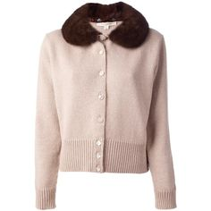 MARC JACOBS fur collar cardigan (56 115 UAH) ❤ liked on Polyvore featuring tops, cardigans, jackets, long sleeve cardigan, marc jacobs, fur collar cardigan, pink long sleeve top and marc jacobs cardigan