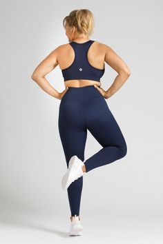 The best support in women's activewear tops, our new Navy Sports Crop ticks all the boxes. Plus quality fabric and perfect fit from sizes Small to Navy Color, Navy Women, Everyday Fashion, Perfect Fit, Active Wear, Core, Tights, Stylish, How To Wear