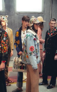 The Best Backstage Pics From the Fall 2016 Mens Shows - Gucci Menswear - Ideas of Gucci Menswear - Backstage at Gucci Fashion Week, Fashion Art, Runway Fashion, High Fashion, Fashion Show, Womens Fashion, Fashion Design, Fashion Trends, All Jeans