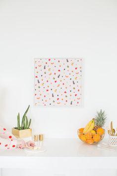 DIY Printable Fruit Wall Art #sproutbyhp #CIY