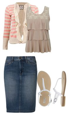 """""""ruffles"""" by modestfashions99 ❤ liked on Polyvore featuring moda e NYDJ"""