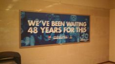Pepsi Super Bowl banner in Secaucus Junction - Secaucus, NJ