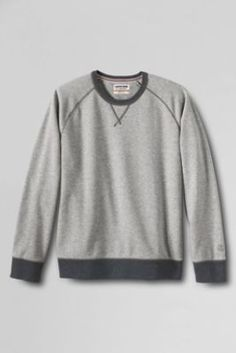 Men's French Terry Solid Crewneck from Lands' End - for G's dad