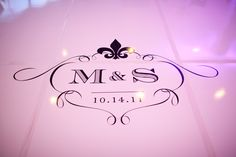 Our wedding logo appeared just about everywhere, including the dance floor