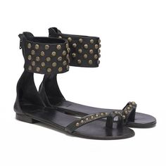 New in: ANINE BING Ankle Cuff Sandals❤www.aninebing.com #aninebing