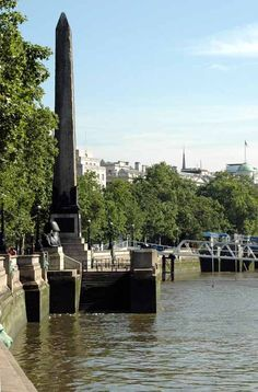 Obelisk in London, victoria embankment, thutmose III, cleopatra's needle. The Needle was presented to Britain by the Turkish viceroy of Egypt and it took nearly 60 years before it made it's way to London