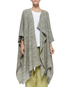 B2SRF eskandar Long Draped Asymmetric Jacket