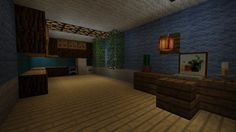 Cool inside of house Cool Minecraft Houses, Minecraft Designs, Minecraft Creations, How To Play Minecraft, Minecraft Stuff, Minecraft Buildings, Terraria, Bambam, Damon