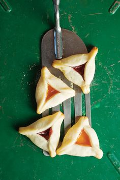Hamantaschen - These cookies are traditionally served on Purim, although they make a great snack year round.