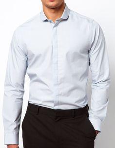 $19 / ASOS / 269798: Smart Shirt with Curve Collar