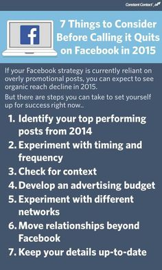 7 Things to Consider Before Calling it Quits on Facebook in 2015 #infographic #strategy