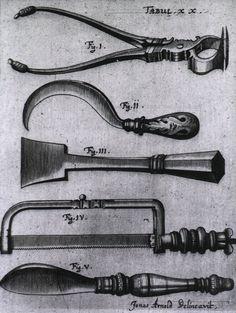 Jonas Arnold Delineavit - Amputation Instruments / from Johannes Scultetus's Armamentarium chirurgicum bipartitum, 1666