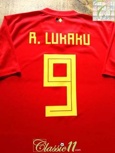 b147703a4 2018 19 Belgium Home Football Shirt R. Lukaku  9 (XL). World Cup ...
