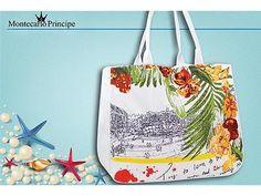 Borsa Donna Shopping Modello Flowers Sabbia-Misure 50x40x15 cm -