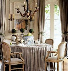 Beauty: Great Design by Cote de Texas - The Inspired Room French Country Cottage, French Country Style, Belgian Style, French Chic, Southern Style, Country Living, French Decor, French Country Decorating, Dining Room Table
