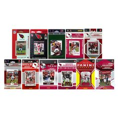 C & I Collectables NFL Arizona Cardinals Set of 11 Licensed Trading Card Team Packs - ARIZCARD1116TS