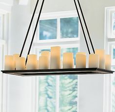 Candle Chandelier Non Electric | Candles Candle Chandeliers from the Pillar Collection