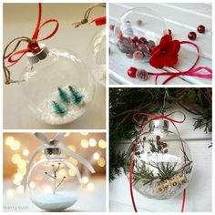 Elegantly Adorable Ways to Fill Clear Ornaments
