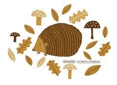 Hedgehog Screenprint