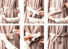How To Wear Belts Tie Your Trench Coat In The Back For A Slimmer Fit - Discover how to make the belt the ideal complement to enhance your figure. How To Wear Belts, Fall Outfits, Cute Outfits, Casual Outfits, Do It Yourself Fashion, Vogue, Outfit Goals, Outfit Ideas, Belt Tying