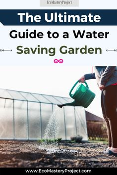 Do you want your garden to be beautiful and a water saving garden in the same time? It is possible! If you are looking for a water-saving garden, then this guide will help. We will discuss how to get a water saving garden and some tips on choosing more water-efficient plants. This post also includes information about devices that can reduce water use in your home or workplace. Green Living Tips, California Garden, Water Retention, Rain Barrel, Drip Irrigation, Water Conservation, Save Water, Drought Tolerant, Native Plants