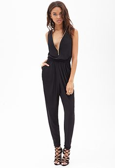 Double-Zippered Jumpsuit | FOREVER21 - 2000102201