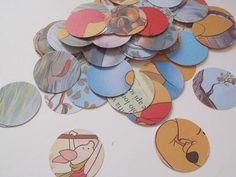 round fairy tales confetti circle baby shower kids birthday