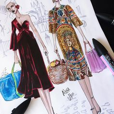 Super Fashion Show Illustration Dress Sketches Ideas Fashion Moda, Fashion Art, New Fashion, Fashion Show, Dress Fashion, Fashion Illustration Sketches, Fashion Sketchbook, Fashion Sketches, Croquis Fashion