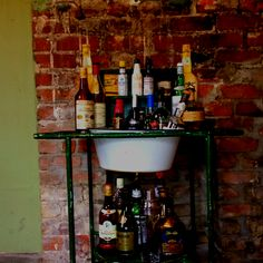 Everything AND The Kitchen Sink Bar #HomeBarIdeas