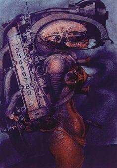 Biomechanoid #70 - by H.R. Giger, 1970.