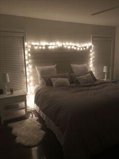 Dream Rooms Bedroom Goals - Decoration Home Cute Bedroom Ideas, Cute Room Decor, Teen Room Decor, Bedroom Inspo, Room Decor Bedroom, Home Bedroom, Bedrooms, Teen Bedroom, Bedroom Lighting