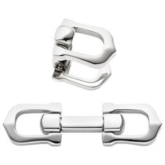 "Cartier cufflinks with elongated ""C"" shape design in palladium-finished sterling silver. Dimensions: mm L x mm W Marked: Cartier FRANCE Ag 925 Origina Sterling Silver Cufflinks, Sterling Silver Jewelry, Cartier, Shape Design, Shapes, Accessories, Ebay, Decor, Handmade"